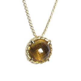 David Yurman Chatelaine 18K Yellow Gold & Citrine Necklace