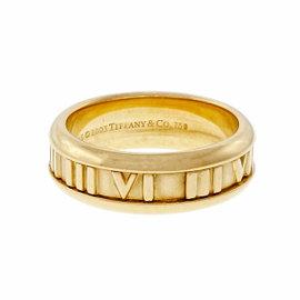 Tiffany & Co. Atlas 18K Yellow Gold Band Ring Size 8