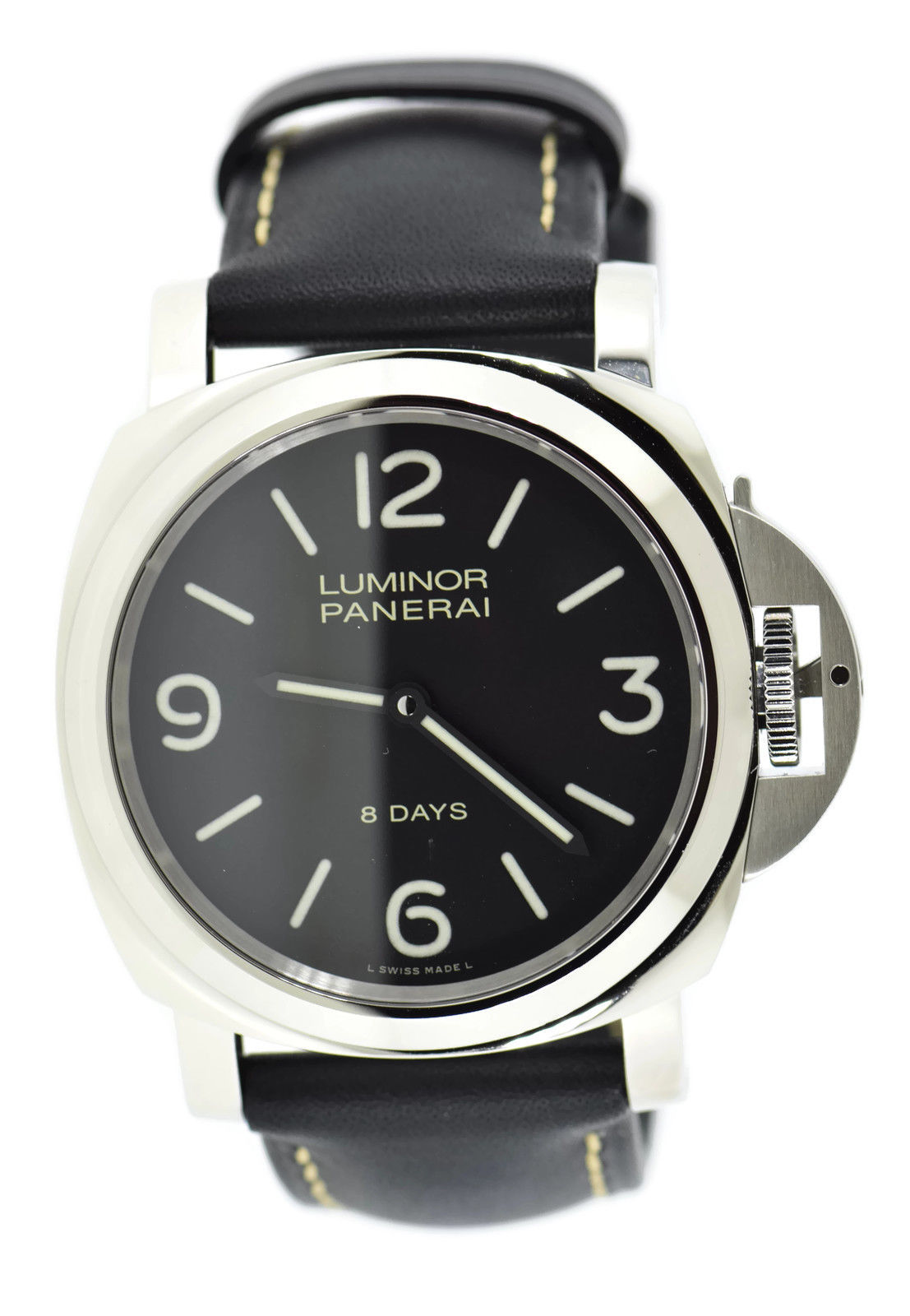 "Image of ""Panerai Luminor Pam560 Stainless Steel & Leather Manual 44mm Mens"""