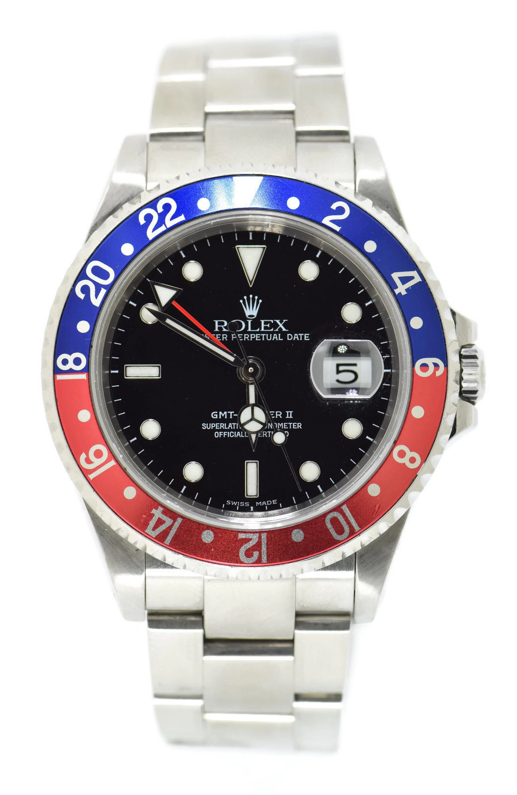 "Image of ""Rolex GMT-Master II 16710 Stainless Steel Pepsi Bezel Automatic 40mm"""