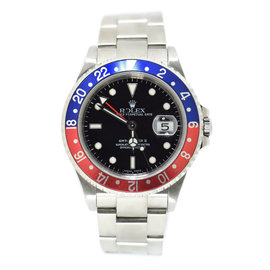Rolex GMT-Master II 16710 Stainless Steel Pepsi Bezel Automatic 40mm Mens Watch
