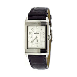 Jaeger LeCoultre Reverso Classique 268.8.47 Stainless Steel & Leather Quartz 24mm Unisex Watch