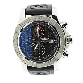 Breitling Super Avenger II A13371 Stainless Steel & Rubber Automatic 48mm Mens Watch