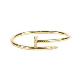 Cartier 18K Yellow Gold with 0.59ct Diamonds Juste Un Clou Bracelet
