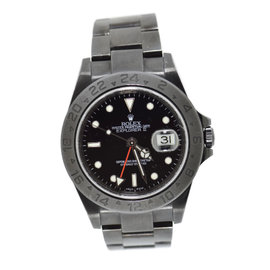 Rolex Explorer II 16570 Black PVD Coated Stainless Steel Automatic 40mm Mens Watch