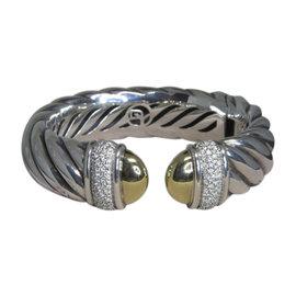 David Yurman Sterling Silver Diamond Womens Bracelet