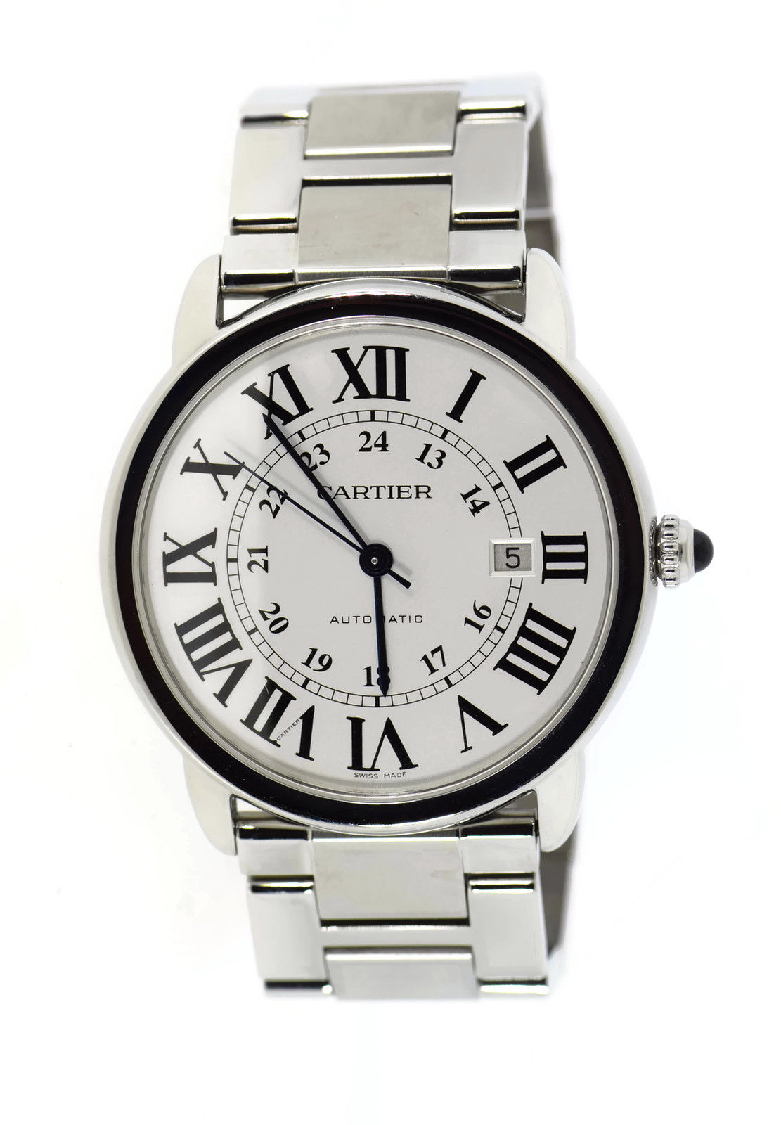 """Image of """"Cartier Ronde Solo W6701011 Stainless Steel Automatic 42mm Mens Watch"""""""