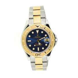 Rolex Yacht-Master 68623 18K Yellow Gold & Stainless Steel Blue Dial Automatic 35mm Unisex Watch