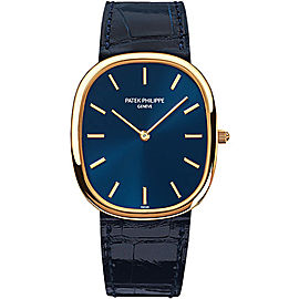 Patek Philippe 18K Yellow Gold / Leather 31mm Mens Watch