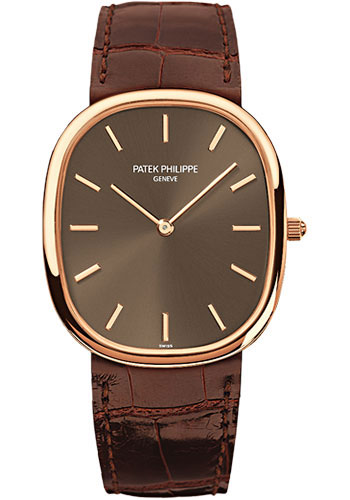 "Image of ""Patek Philippe 18K Rose Gold with Brown Dial Automatic 31.1mm Mens"""