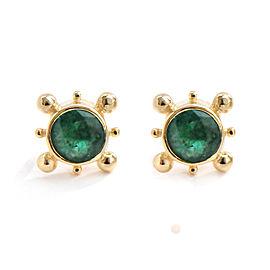 14k Gold Emerald Earrings