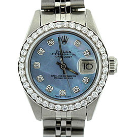 Rolex Datejust Blue Diamond Dial Stainless Steel 26mm Watch