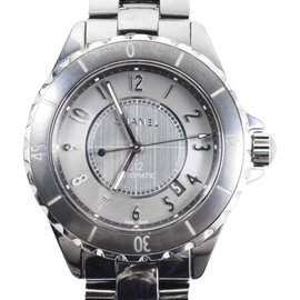 Chanel Gunmetal Gray Ceramic Titanium J12 Automatic Chromatic Watch