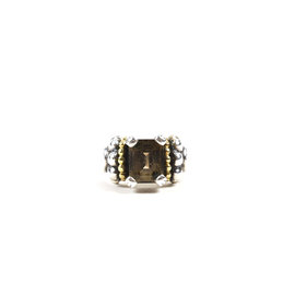 Lagos Caviar 925 Sterling Silver & 18K Yellow Gold Smoky Quartz