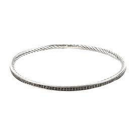 David Yurman 925 Sterling Silver Black Diamonds