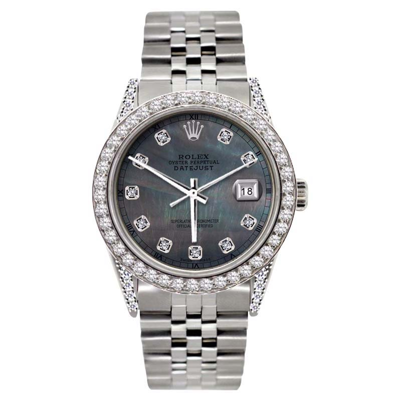 """Image of """"Rolex Datejust 18K Yellow Gold & Stainless Steel 5ct Diamond With"""""""