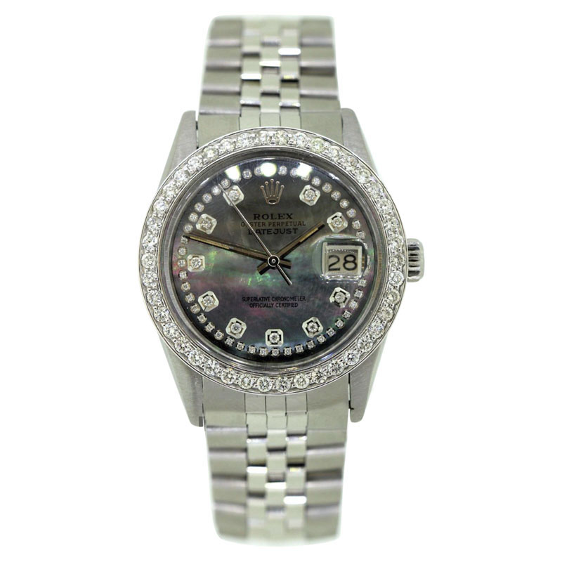 "Image of ""Rolex Datejust Stainless Steel 2.5ct Diamond Bezel & Dial Automatic"""