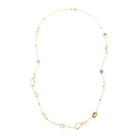 Alexis Bittar Gold Plated Quartz Labradorite Swarovski Crystal Station Necklace