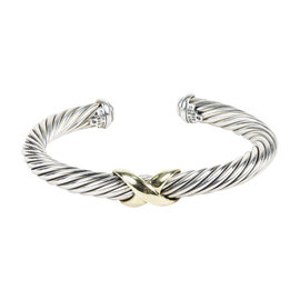 David Yurman 925 Sterling Silver 14K Yellow Gold Cable