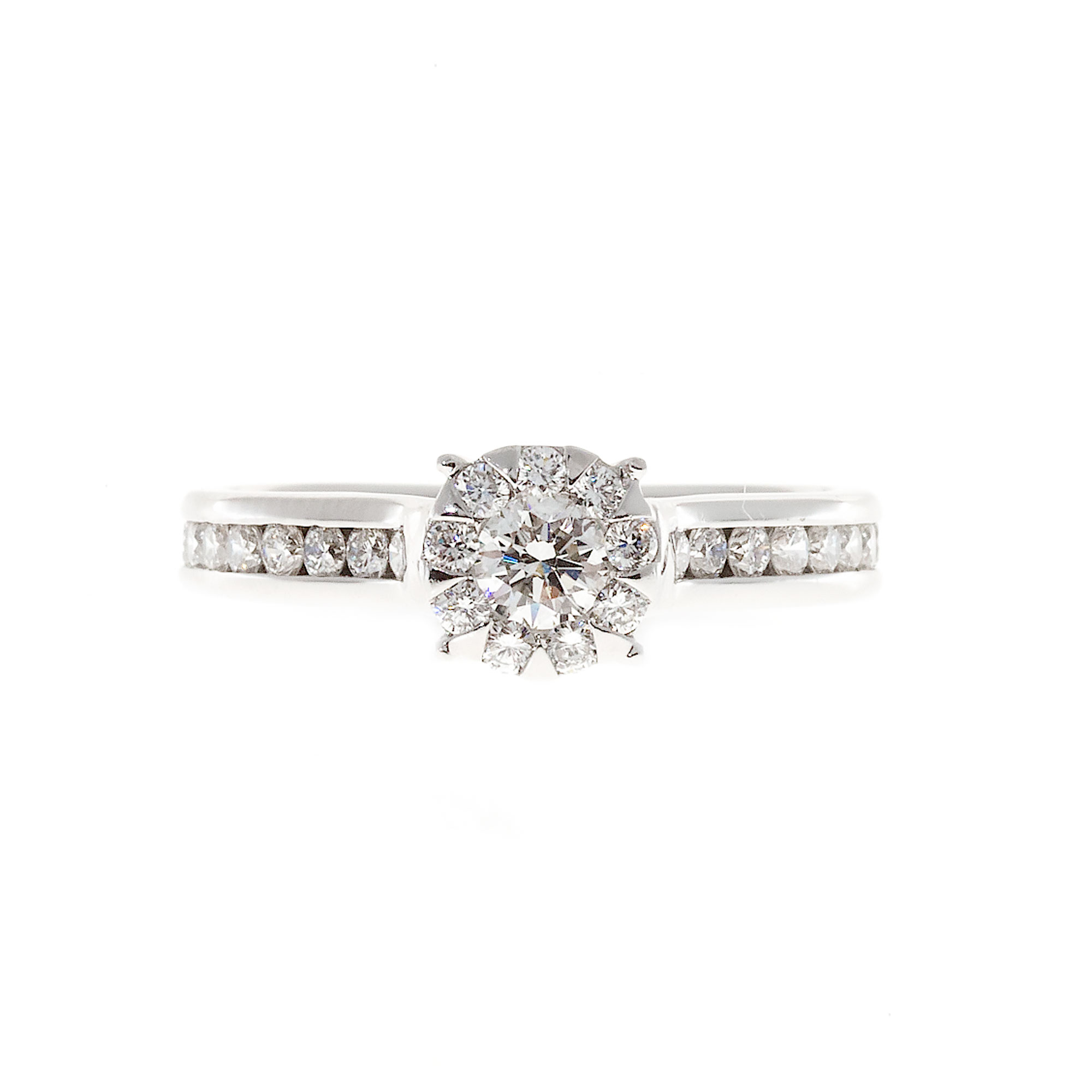 "Image of ""Memoire 18K White Gold 0.78ct Diamond Ring Size 5.5"""