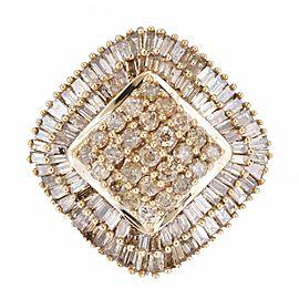 10K Yellow Gold Diamond Ring Size 7