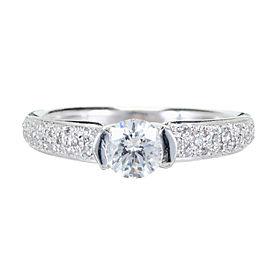 Platinum with .52ct Diamond Engagement Ring Size 7