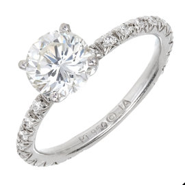Platinum 1.02ct Diamond Ring Size 5