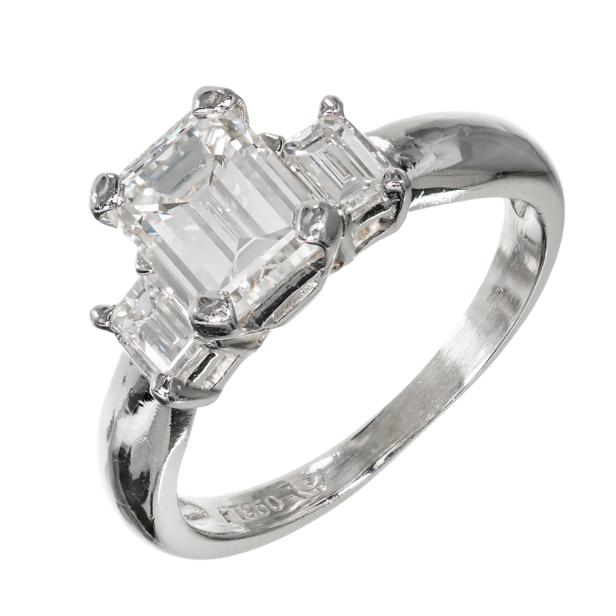 """""Platinum with 1.51ct Diamond Ring Size 5.75"""""" 2138264"