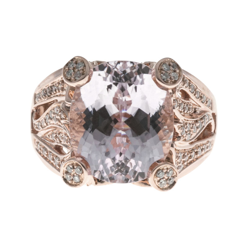 "Image of ""Sonia B Vintage 14K Rose Gold with 8.0ct Purplish Pink Kunzite &"""