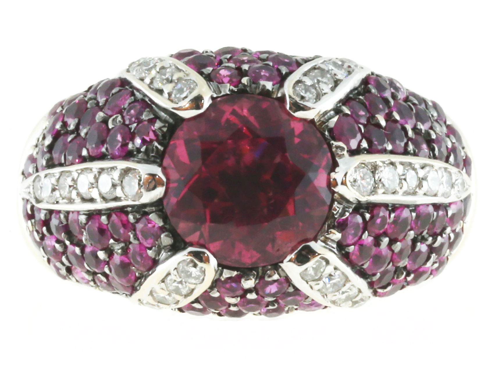 "Image of ""Sonia B Vintage 18K White Gold with 1.75ct Pink Tourmaline & 0.25ct"""