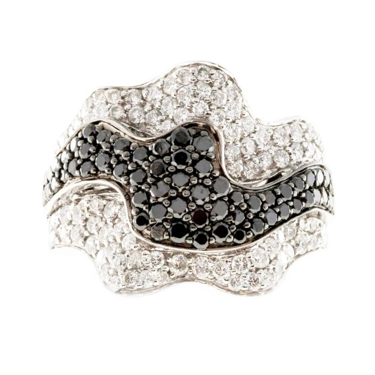 "Image of ""Sonia B Vintage 18K White Gold with 1.25ct White & 0.75ct Black"""