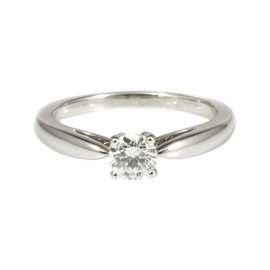 Van Cleef & Arpels 950 Platinum & 0.31ct Diamond Ring Size 4.75