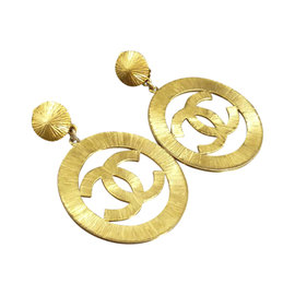 Chanel Gold-Tone Coco Mark Clip-On Earrings