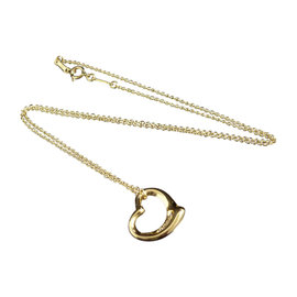 Tiffany & Co. 18K Yellow Gold and Diamonds Heart Necklace