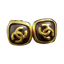 Chanel Coco Mark CC Logo Gold-Tone Clip-On Earrings
