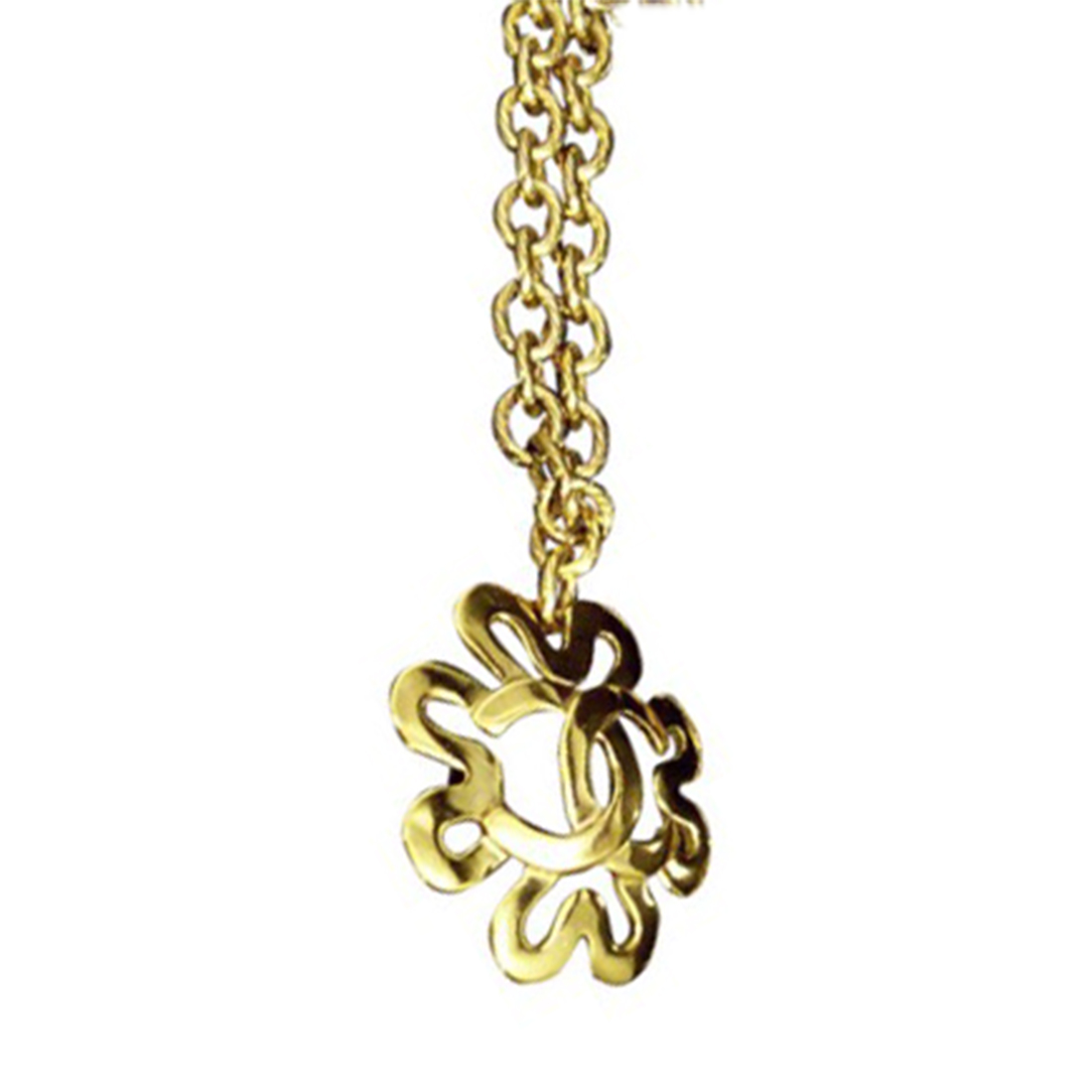 "Image of ""Chanel Gold Tone Metal and Rhinestone Pendant Necklace"""