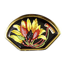 Hermes Gold-Tone Cloisonne Corsage Brooch Pin