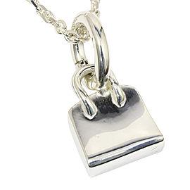 Hermes Sterling Silver Birkin Bag Pendant Necklace