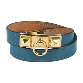 Hermes Colvert Gold Tone Hardware with Leather