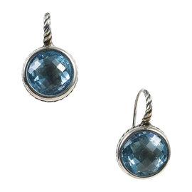 David Yurman 925 Sterling Silver with Blue Topaz