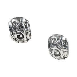 John Hardy 925 Sterling Silver Huggie Clip On Earrings