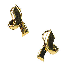 Tiffany & Co. 18K Yellow Gold Bow Paloma Picasso Clip Post Earrings