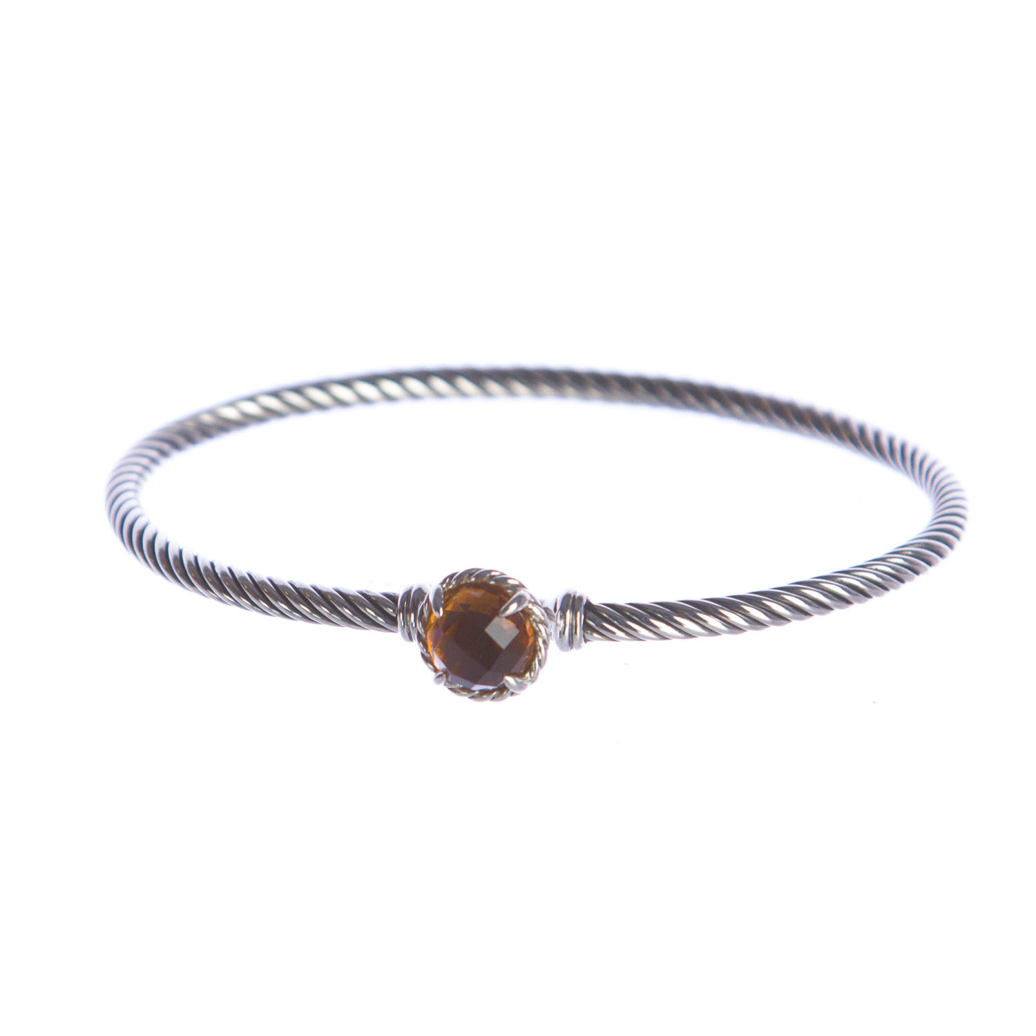 "Image of ""David Yurman 925 Sterling Silver with Citrine Chatelaine Bracelet"""