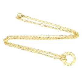 Cartier 18K Yellow Gold with Diamond Love Circle Pendant Necklace