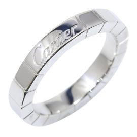 Cartier 18K White Gold Lanieres Ring Size 4