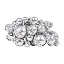 Christian Dior Silver Tone Faux Pearl