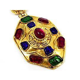Chanel Gold-Tone Hardware Coco Mark Chain Pendant Necklace