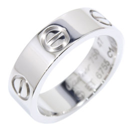 Cartier Love 18K White Gold Ring Size 4.25