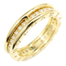 Bulgari B-Zero 1 18K Yellow Gold & Diamond Ring Size 6