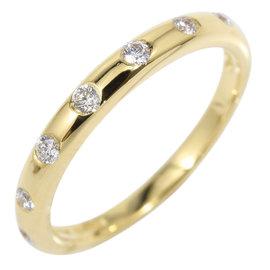 Bulgari 18K Yellow Gold & Diamond Ring Size 3.75